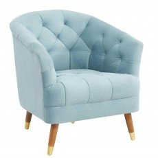 Mindy Brownes Hensley Armchair Fabric Blue