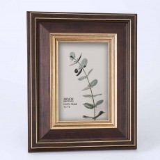 "Mindy Brownes Haiden Photo Frame 5"" x 7"" Brown & Gold"