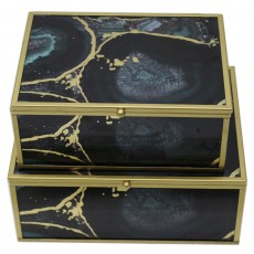 Mindy Brownes Accessory Box Midnight Glory (Set Of 2)