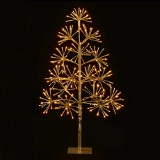 3ft/90cm Christmas Tree With 256 LED Warm White Lights Gold