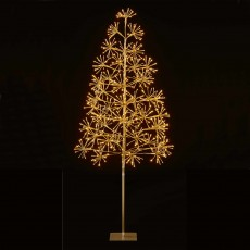 5ft/150cm Christmas Tree With 576 LED Warm White LED Lights Gold