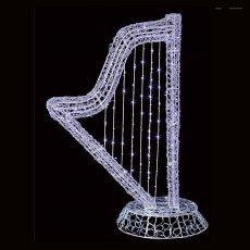 Soft Acrylic Harp 114cm With 130 White Lights