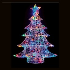 Soft Acrylic Christmas Tree 3.3ft/100cm With 120 Multicoloured LED Lights