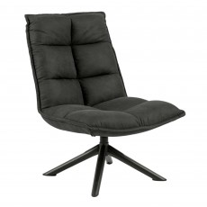 Bora Swivel Chair Fabric Dark Grey