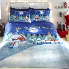 Bedlam Christmas Glow In The Dark Duvet Cover Set Multi-Coloured