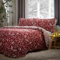 Fusion Christmas Nordic Reversible Duvet Cover Set Red