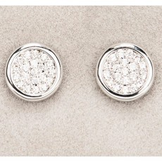 Newgrange Living Diamante Round Earrings Silver