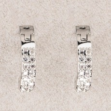 Newgrange Living Diamante Hoop Earrings