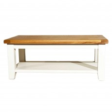 Olivia Coffee Table Painted White & Oak Top