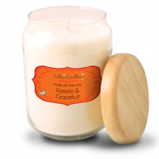 Celtic Candles Classic Pomelo & Grapefruit Wood Top Large Pop Jar 13cm