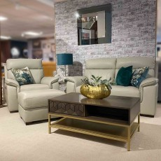 Bardolino 3 Seater Sofa Leather Category 15(S) Stone