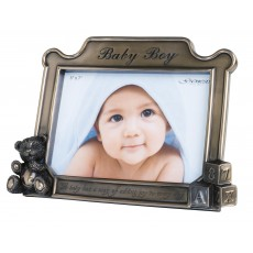 "Genesis 5"" x 7"" Baby Boy Photo Frame"