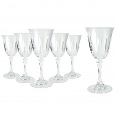 Tipperary Crystal Tranquility Wine Glasses (Set of 6) in Hat Box