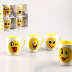 Emoji Mugs (Set of 4) Multi-Coloured
