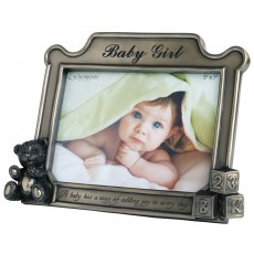 "Genesis 5"" x 7"" Baby Girl Photo Frame"