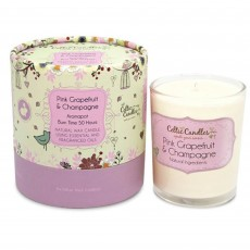 Celtic Candles Classic Pink Grapefruit & Champagne Aromapot Tumbler Round Box 20cl