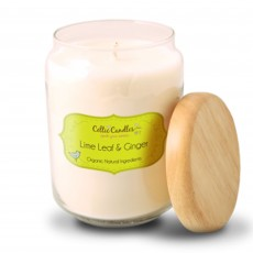 Celtic Candles Classic Lime Leaf & Ginger Wood Top Large Pop Jar 13cm