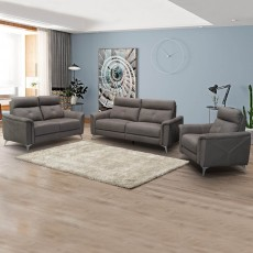 Gerrard 2 Seater Sofa Suede Look Light Grey
