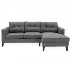 Odense 4 Seater Corner Sofa With Chaise RHF Fabric Charcoal