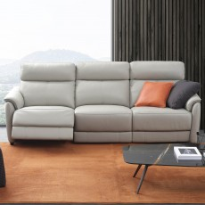 San Felice Large 2 Seater Electric Reclining Sofa Leather Category BX
