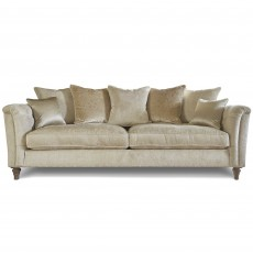 Beaulieu 4 Seater Scatter Back Sofa With Studs Fabric A