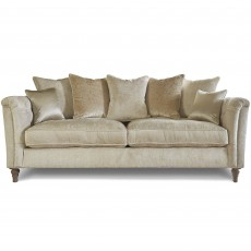 Beaulieu 3 Seater Scatter Back Sofa With Studs Fabric A