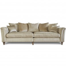 Beaulieu 4+ Seater Scatter Back Sofa With Studs Fabric A