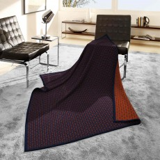 Biederlack Trellis Reversible Throw 150cm x 200cm Navy & Rust