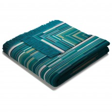 Biederlack Barcode Reversible Throw 150 x 200cm Teal & Green