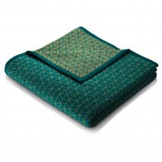Biederlack Trellis Reversible Throw 150 x 200cm Teal & Green