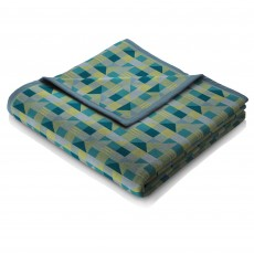 Biederlack Abstract Reversible Throw 150 x 200cm Teal & Green