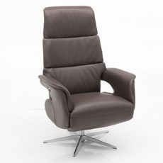 Hjort Knudsen Danube Medium Electric Reclining Armchair Semi(S) Leather