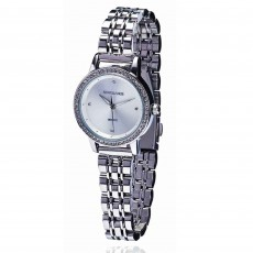 Newgrange Living Diamond Bezel Ladies Watch Silver