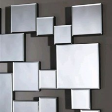 Deknudt Pixels Rectangle Wall Mirror