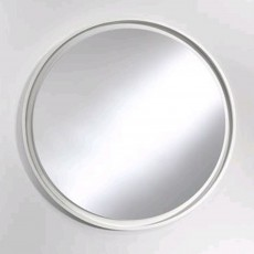 Deknudt Large Radius Wall Mirror White