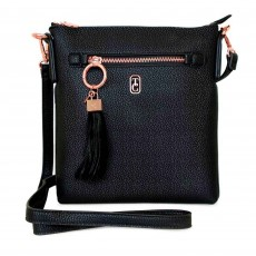 Tipperary Crystal Chelsea Cross Body Pouch Black