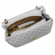 Tipperary Crystal Palermo Quilted Handbag Off-White