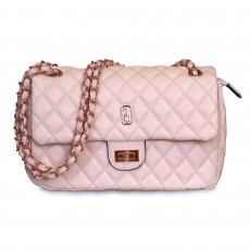 Tipperary Crystal Palermo Quilted Handbag Pale Pink