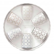 Tipperary Crystal Circle Mugs (Set of 6) in Hat Box
