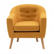 Eastnor Armchair Fabric Mustard