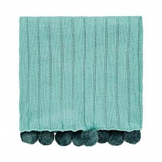 Helena Springfield Liv/Tolka Woven Throw 130cm x 150cm Teal