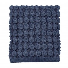 Fable Fleur/Ellinor Knitted Throw 130cm x 150cm Ink Blue