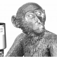 Hill Interiors Ringo The Monkey Table Lamp Silver