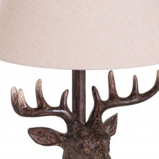Hill Interiors Stag Head Table Lamp Brown
