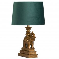 Hill Interiors Antique Elephant Table Lamp Gold