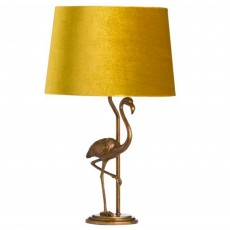 Hill Interiors Antique Flamingo Lamp Gold