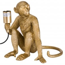 Hill Interiors George The Monkey Table Lamp Gold
