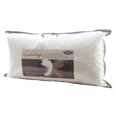 The Soft Bedding Company Sleep Well Live Well White Goose Feather & Down Extra Long Pillow