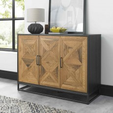 Khan 3 Door Sideboard Rustic Oak
