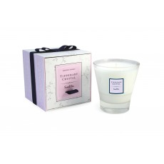 Tipperary Crystal Sweet Pea Candle Filled Glass Tumbler